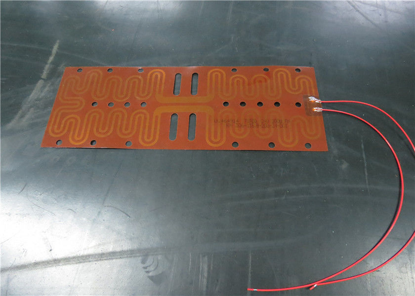 Quick Heating Kapton Foil Heater , Foil Heating Element Simple Assembly
